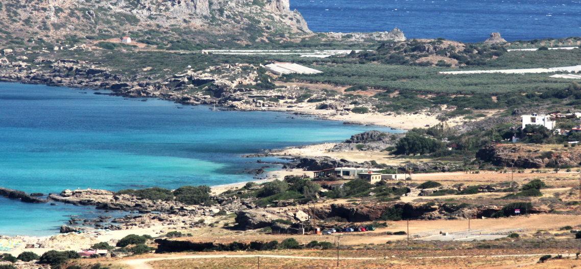 Playa nudista de Falassarna (Creta, Grecia)