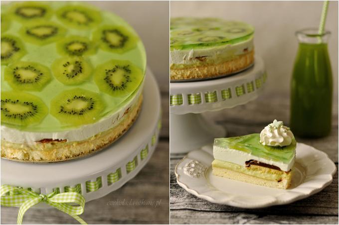 ciasto, shrek, na imprezę, urodziny, zielone