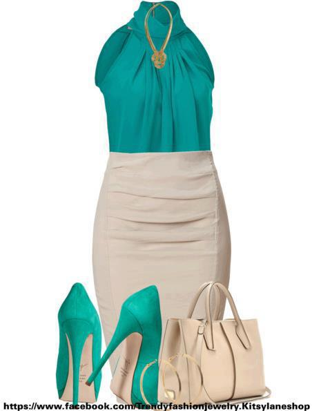Full body gown, high heel shoes and hand bag for ladies