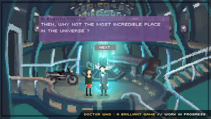 Doctor Who : A Brillian Fan Game pixel art game immudelki eleventh doctor with clara