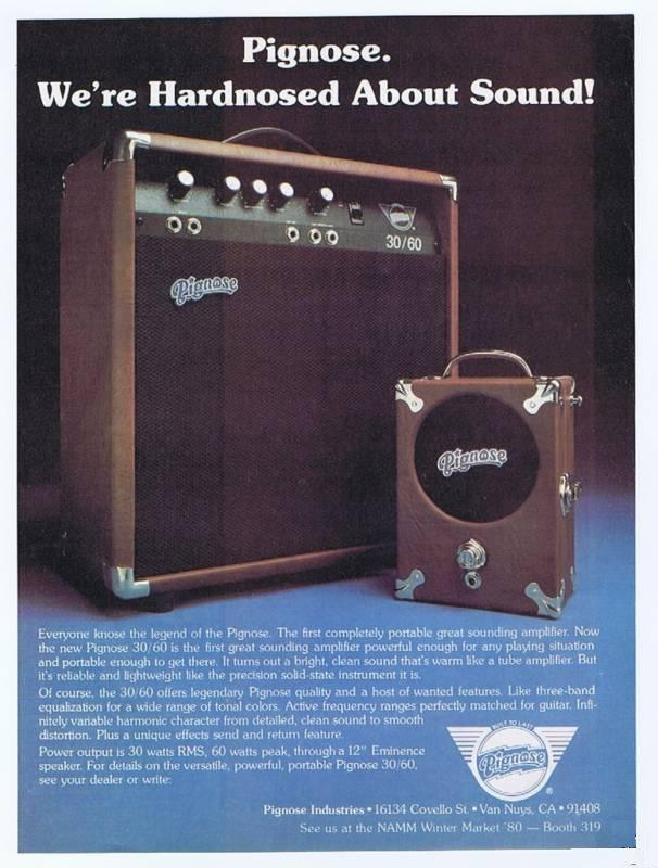 the unique guitar blog the pignose amp i am not certain who designed the pignose 30 60 amplifier this was pignose industries first attempt at a larger amplifier which was offered for in