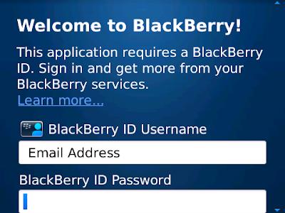 Cara Daftar BlackBerry ID untuk Login BBM for Android dan iOS
