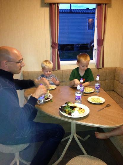 eating in a caravan