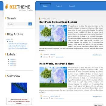 Biz Themes Blogger Template. blogger template from wordpress theme