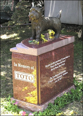 Toto Memorial Marker, installed 6/18/2011 at the Hollywood Forever Cemetery