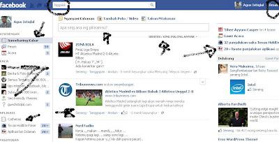 tampilan facebook Bahasa Jawa