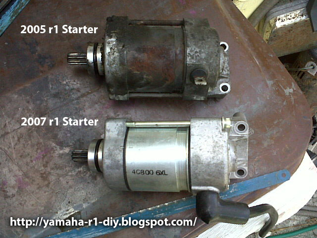 Yamaha YZF R1 DIY Repair Fix Tips  How to remove a starter motor