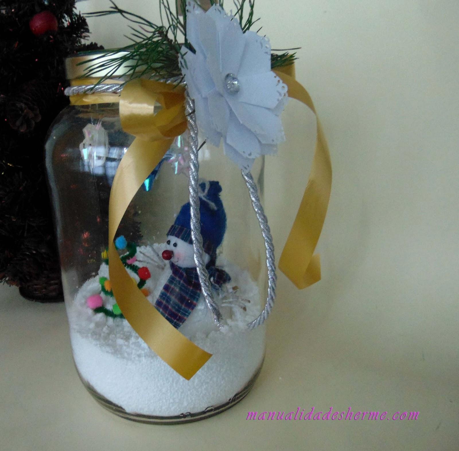 Manualidades herme como hacer un tarro decorado para navidad - Manualidades para hacer adornos navidenos ...