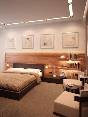 dormitorio marrón beige