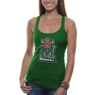 Marshall Thundering Herd NCAA Rhinestone Tank Top