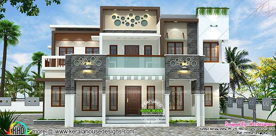 Decorative modern house plan