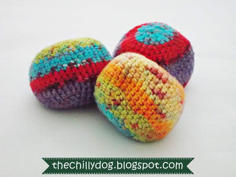 Crochet Beach Bag Pattern : The Chilly Dog: Post #250 - Crocheted Bean Bag Ball Pattern