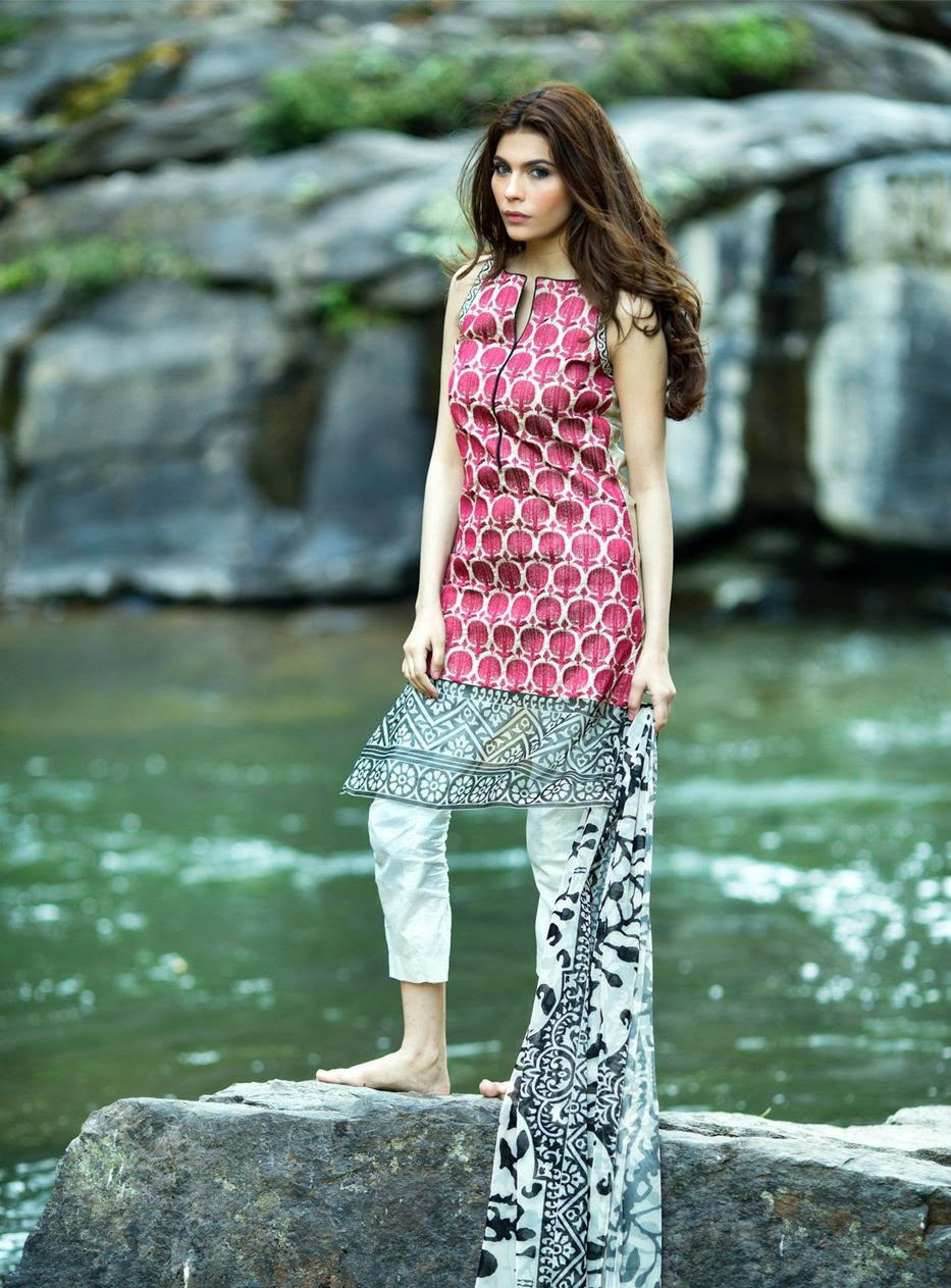 Sana safinaz lawn collection 2015 for girls