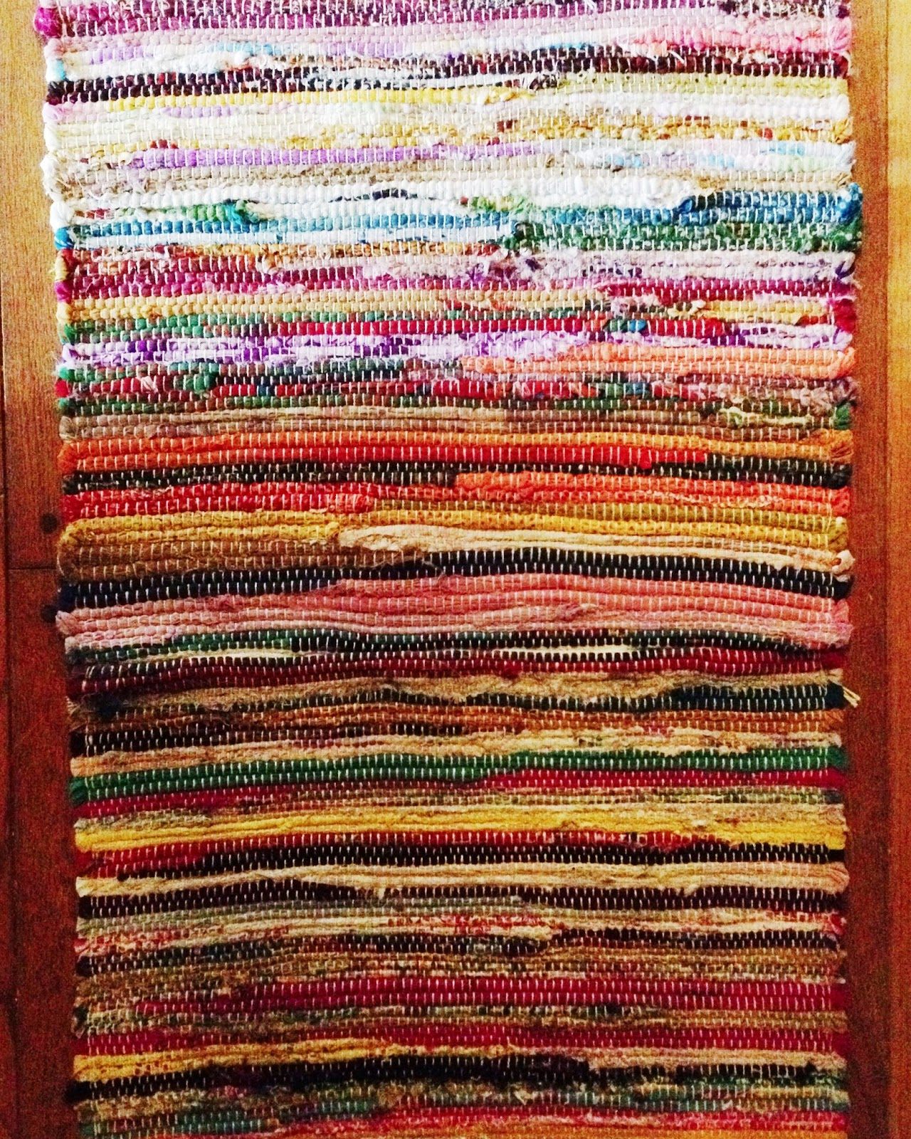 The rug company striped woven throw one