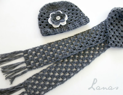 free crochet pattern granny stripe scarf