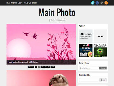 responsive blogger template for photography blog