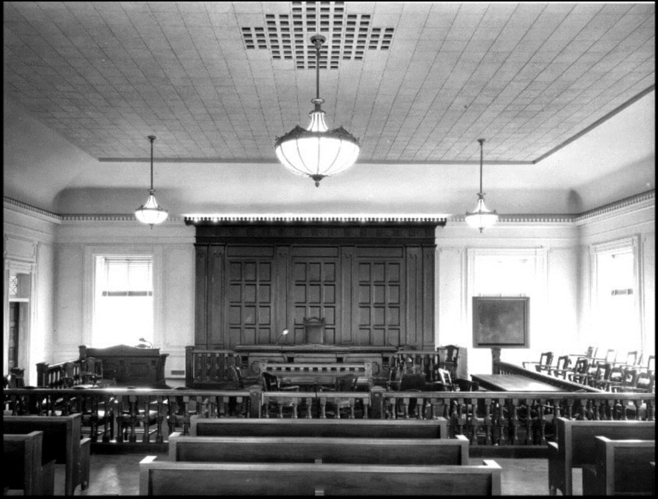 Image gallery inside old courthouse for Classic house records