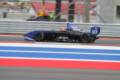 Lloyd Read at Circuit of the Americas in the Almost Everything Star Mazda