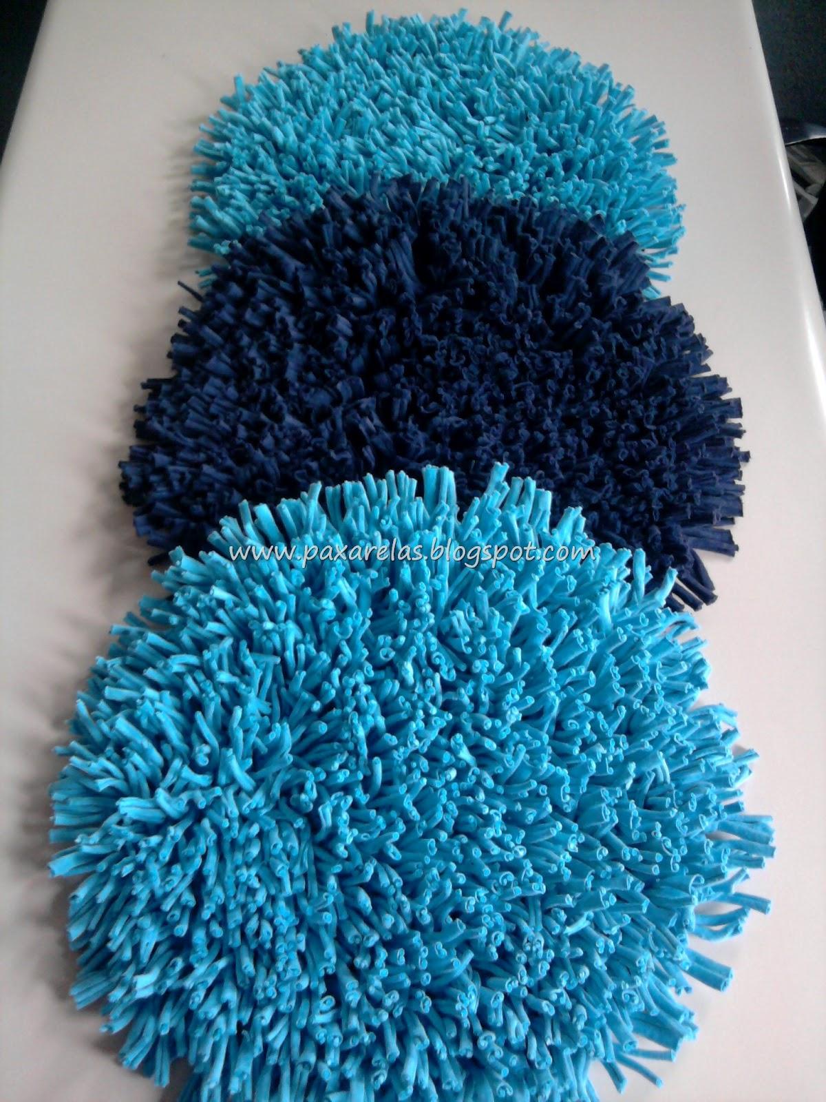 Alfombra Circular Azul Marino Y Tr O De Circulares