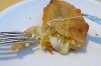 Frittierte Zucchiniblüten mit Käse