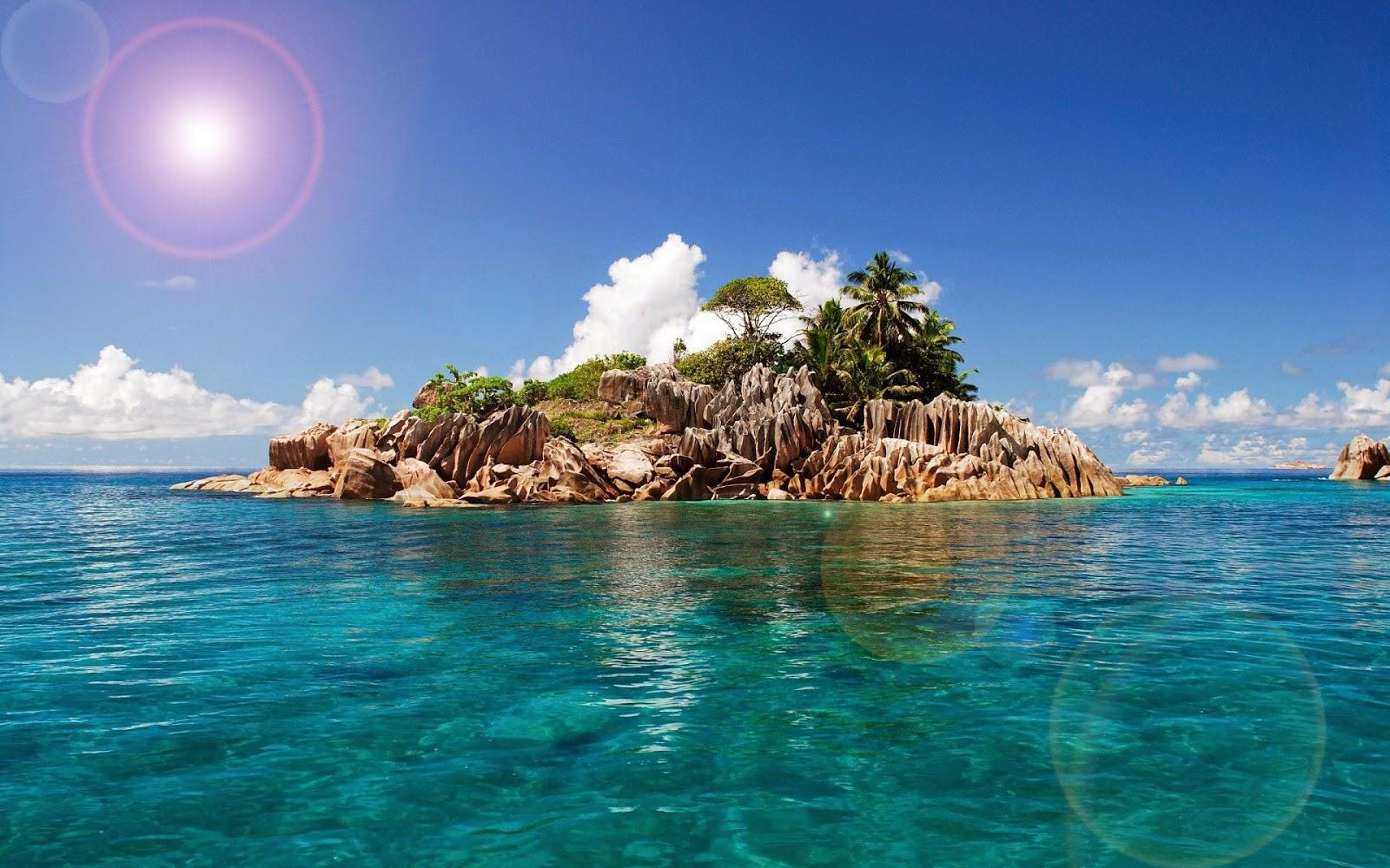 Foto van een klein tropisch eiland achtergronden for Immagini wallpaper hd