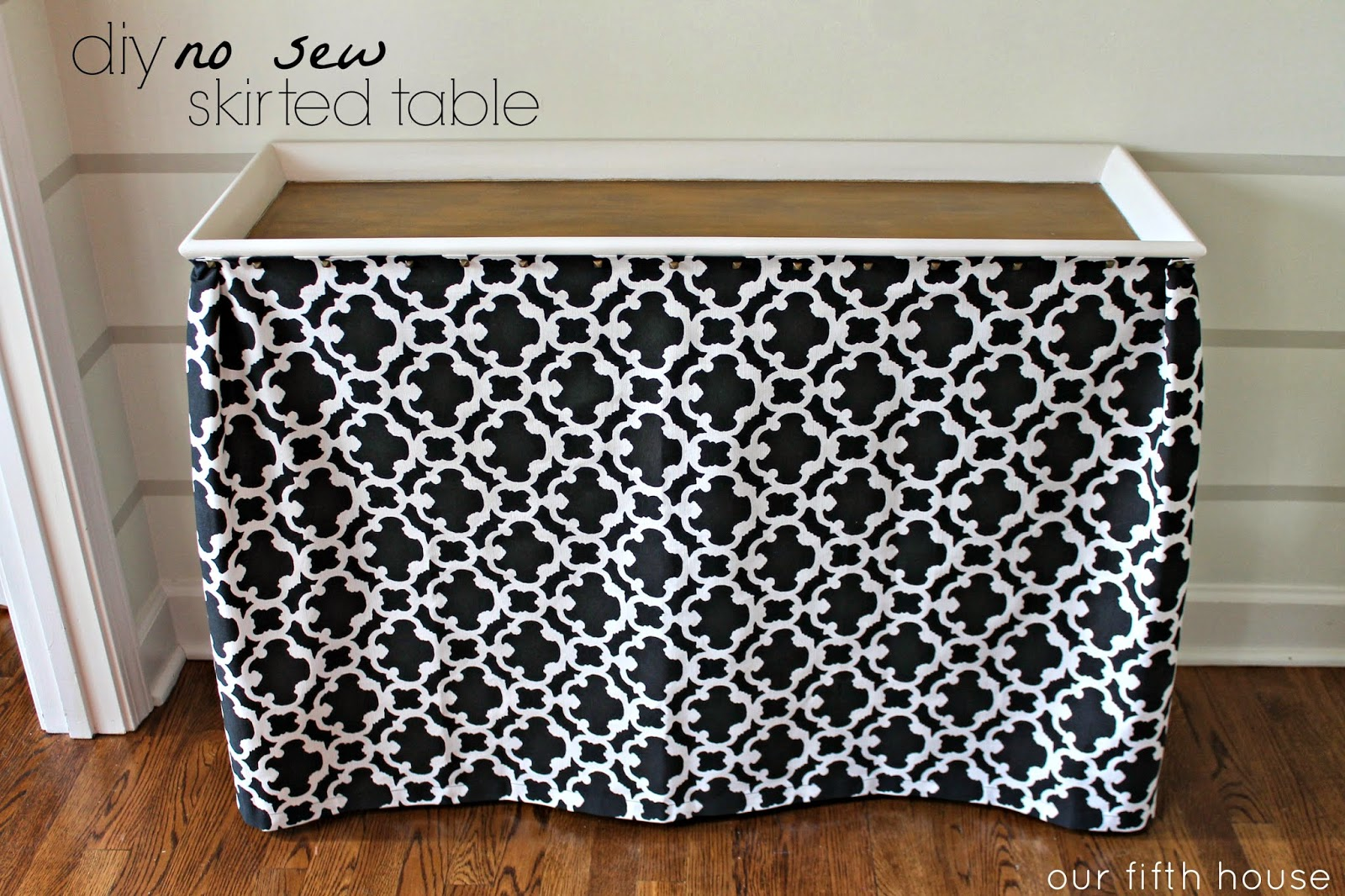 diy no sew skirted table