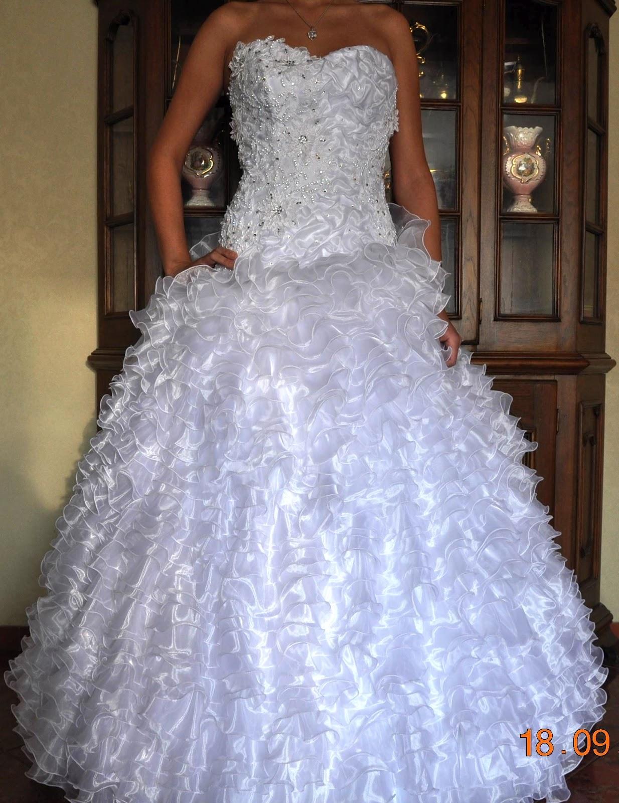 Suknie ślubne Vestido Suknia ślubna Falbanki