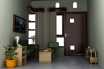 model ruang tamu kecil