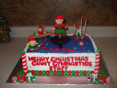 Gaint Gymnastic Christmas Cake