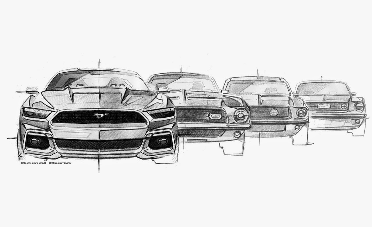 2015 Mustang's design sketches