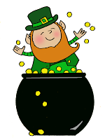 Leprechaun, pot of gold, gold, St Patty's day