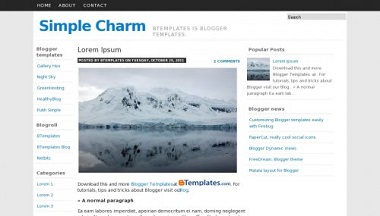 Simple Charm Blogger