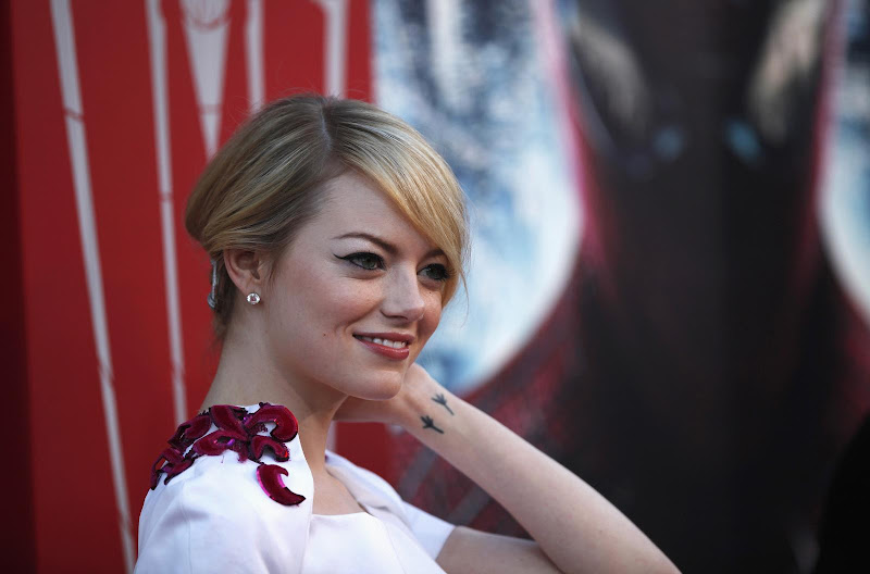 The meaning of Emma Stone's tattoo title=