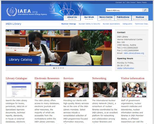 Website Perpustakaan IAEA