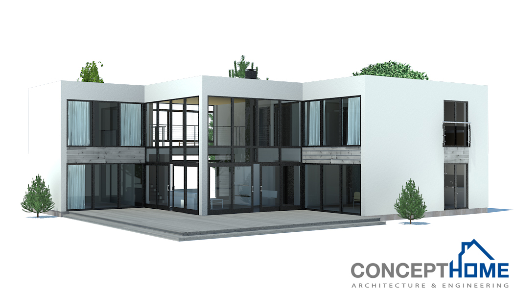 Contemporary house plans contemporary home ch168 for Contemporary building plans