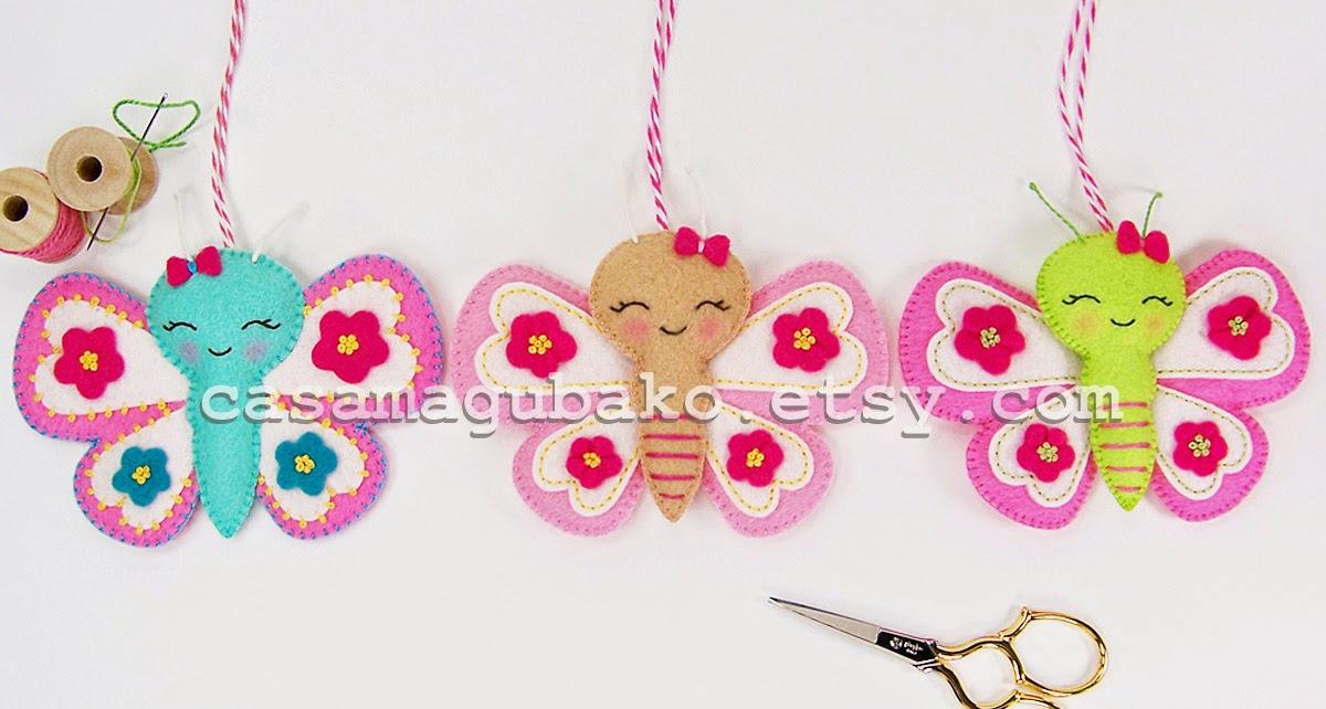 Felt Butterflies by casamagubako.com