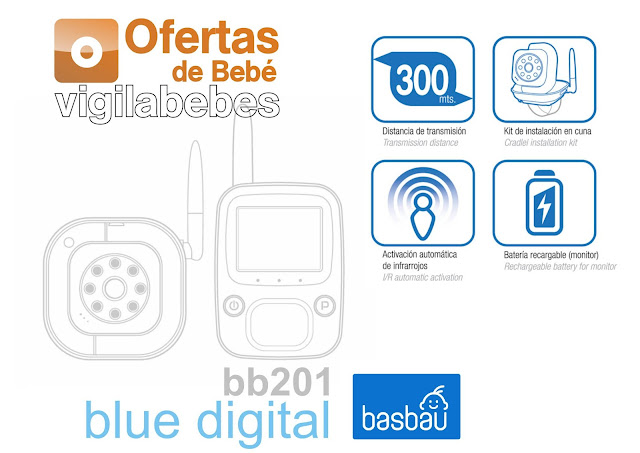 basbau bb201 blue digital