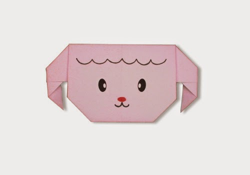 Origami Tutorials - How to make a face of Sheep with Video tip