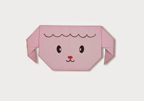 Hướng dẫn cách gấp mặt con cừu bằng giấy - Xếp hình Origami với Video clip