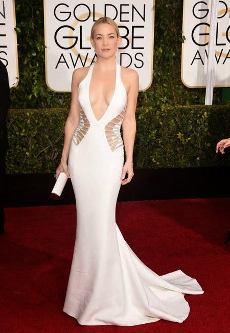 Кейт Хъдсън в секси рокля Versace на Златен глобус 2015