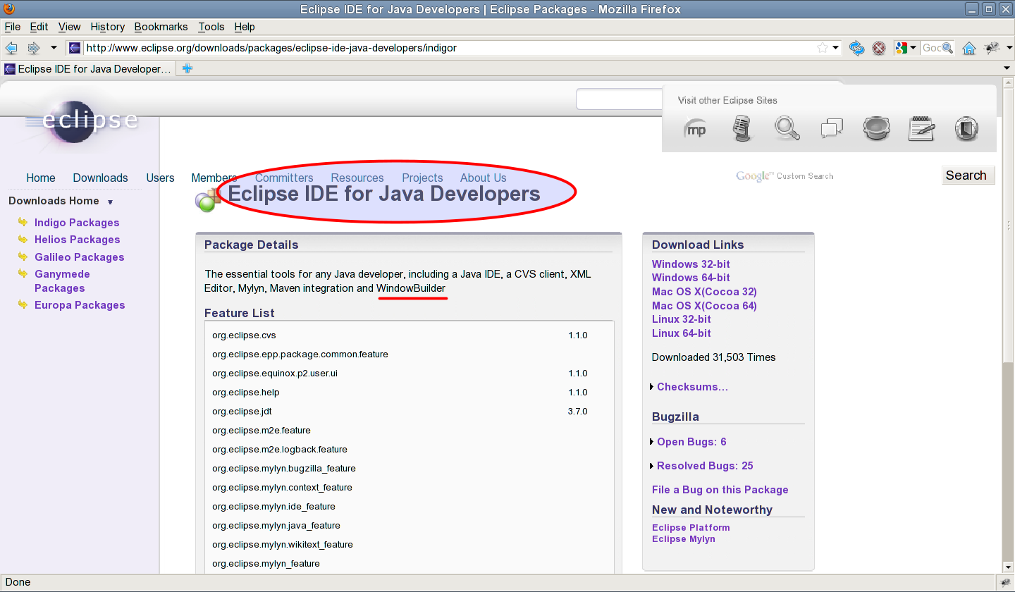 Installer windowbuilder dans eclipse indigo for Windowbuilder
