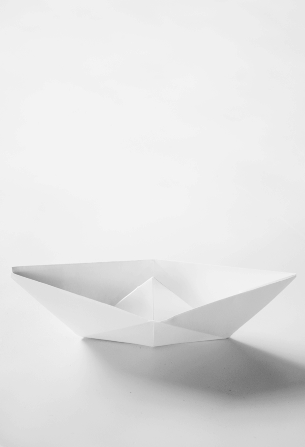 paper boat origami white