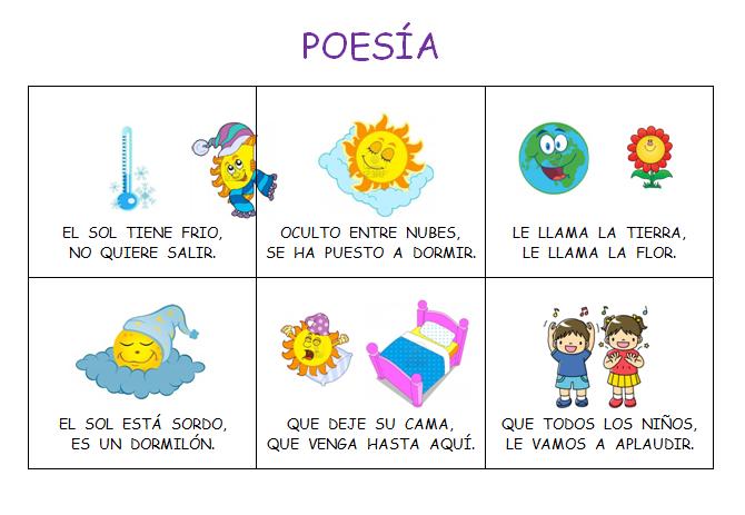 """ELS MENUDETS DEL COLE: POESIA """"EL SOL ESTÁ CONSTIPADO"""" Y """"EL SOL"""