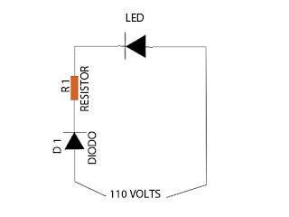 Como ligar o led em 110V