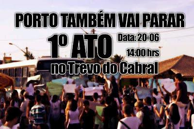Neste 1° ATO o objetivo é indicar a indignação sobre os preços abusivos da balsa e ônibus na Costa do Descobrimento, além de reivindicar melhor qualidade no atendimento.