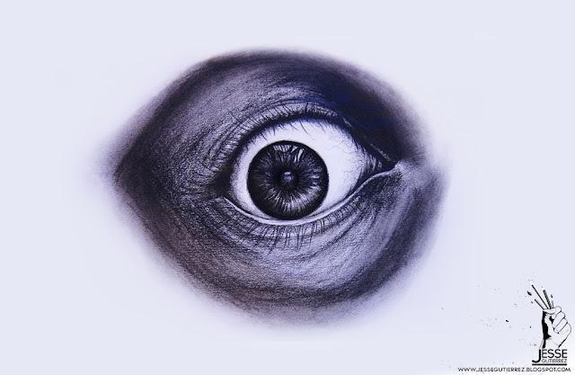 Jesse gutierrez Art Dibujo de ojo Eye drawing, peru,artista peruano 3d diseño 3d