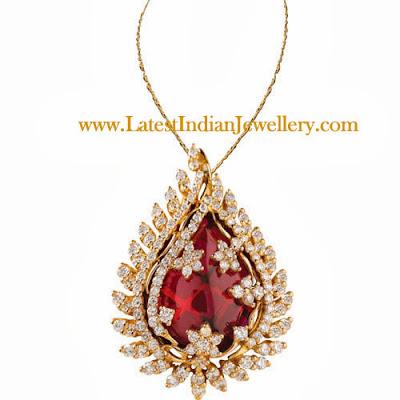 Diamond Ruby Pendant