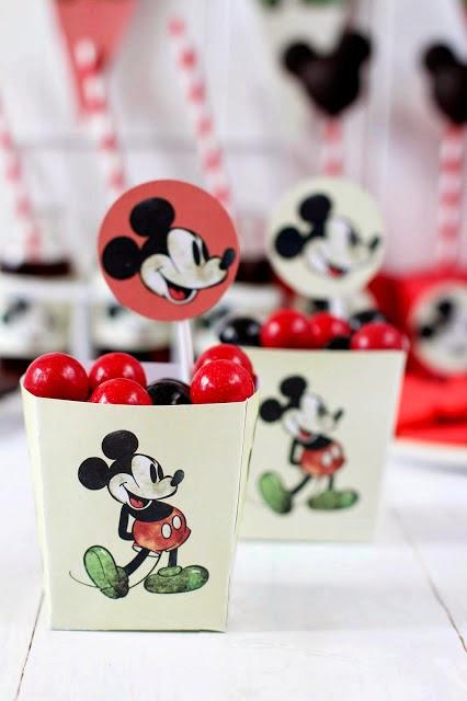 Ιδέες για πάρτι με θέμα τον Mickey-vintage