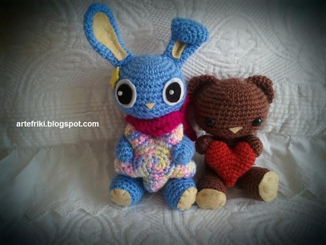 conejo amigurumi crochet ganchillo estrella doll bunny bear oso