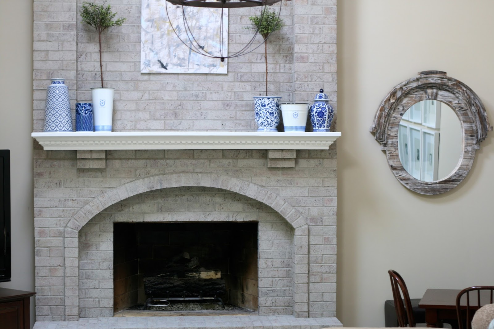 monograms u0027n mud fireplace reveal u0026 family room updates
